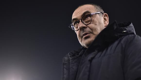 Maurizio Sarri se despide de Juventus tras levantar una Serie A italiana. (Foto: AFP)