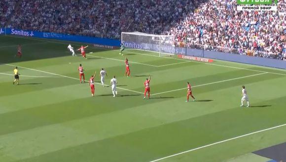 Benzema anotó el 1-0 tras pase de Bale en el Real Madrid vs. Granada por LaLiga