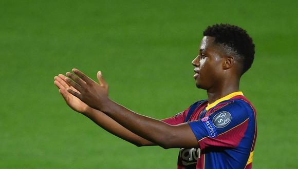 Ansu Fati es uno de los goleadores del Barcelona en la temporada 2020-21. (AFP)