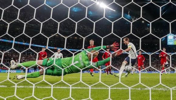 Inglaterra vs. Dinamarca en Wembley por las semifinales de la Eurocopa. (Foto: AFP)