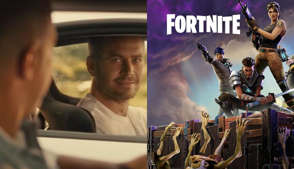 Emotivo video tributo al final de 'Rápidos y Furiosos 7' hecho Fortnite causa sensación en las redes. (Fotos: Reddit/Facebook)