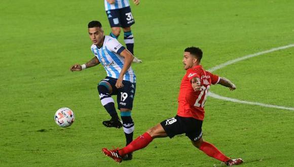 Racing venció por 1-0 a Independiente en el Clásico de Avellaneda por la Copa de la Liga Profesional 2021. (Foto: Twitter)