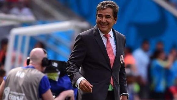 Jorge Luis Pinto dirigió a Costa Rica en el Mundial de Brasil. (AFP)