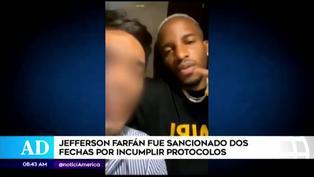 Esta fue la sanción que recibió Jefferson Farfán por incumplir protocolos de la Liga 1