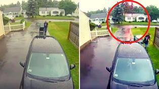 Video viral: Hombre salva de morir al caer rayo muy cerca a él