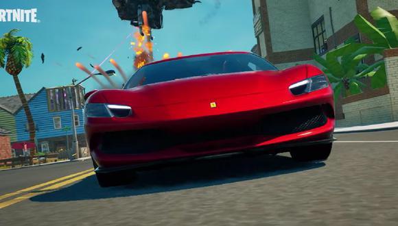 Nuevo vehículo Ferrari llegó a la isla de Fortnite