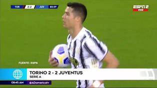 Resumen de goles: Cristiano Ronaldo salva de derrota a Juventus