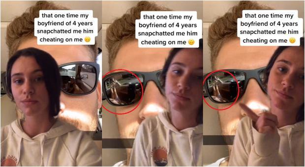 Mujer descubre infidelidad con un selfie de Snapchat y es viral. (TikTok)
