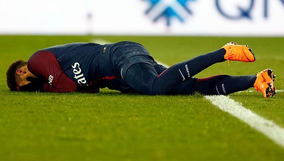 Neymar salió lesionado a los 77 minutos ante el Olympique de Marsella. (Getty)