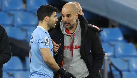 Nuevo elogio de Pep Guardiola a Sergio Agüero. (Foto: AFP)