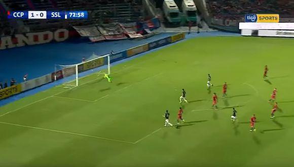 El gol perjudicó a Cerro Porteño, que iba ganando 1-0. (Captura/Youtube)