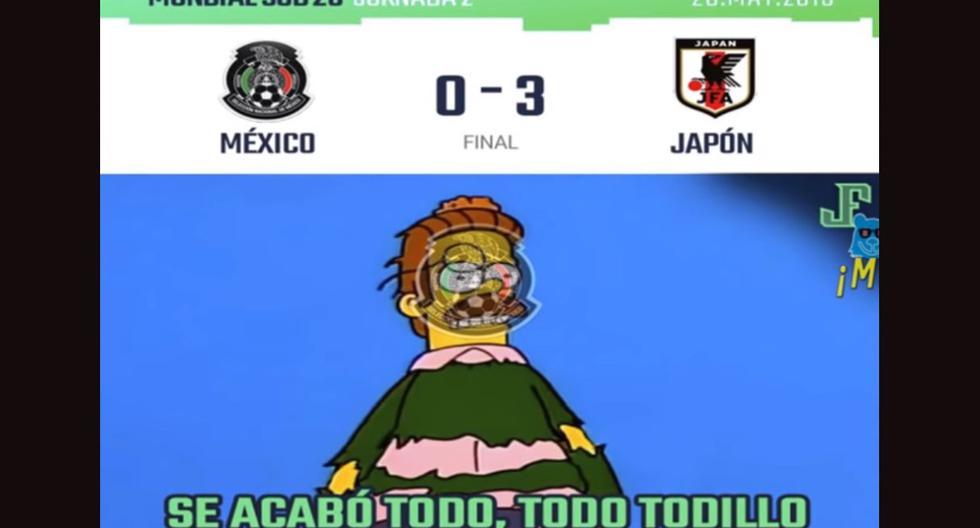 Los memes por la derrota de México frente a Japón en el Mundial sub 20. (Foto: Facebook)