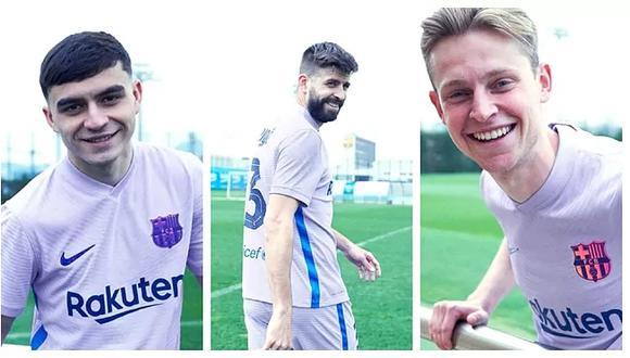 El FC Barcelona presentó su segunda equipación de la temporada. (Foto: FCB)