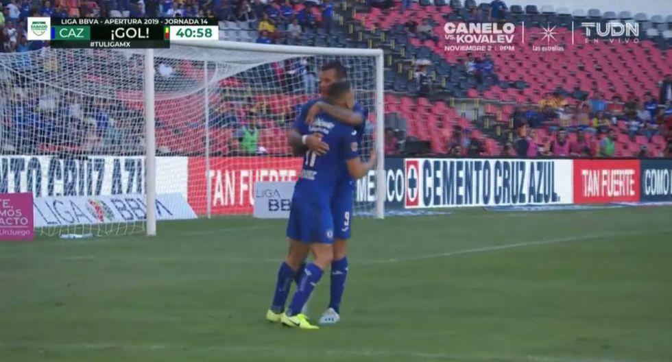 Gol de 'Cabecita' Rodríguez para el 1-1 de Cruz Azul ante Monarcas Morelia. (TUDN)