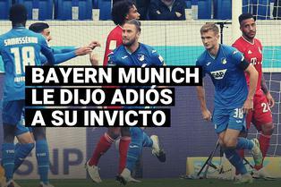 Bayern Múnich perdió el invicto de casi diez meses ante Hoffenheim