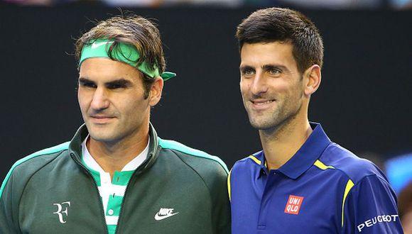 Federer y Djokovic suman 38 títulos del Grand Slam entre ambos. (Foto: AFP)