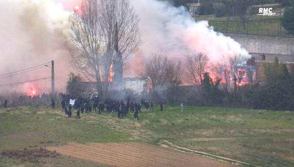 Hinchas de Marsella causan incendios y golean a jugador (Foto: RMC)