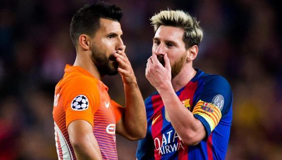 Sergio Agüero es la apuesta de Barcelona para retener a Messi (Foto: Getty Images)