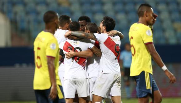 Perú ganó 2-1 a Colombia en la Copa América 2021. (Foto: Jesus Saucedo / @photo.gec)