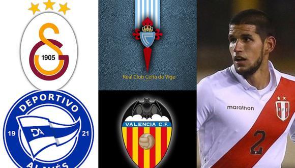 Galatasaray, Celta de Vigo, Alavés y Valencia son algunos de clubes que han sido vinculado a Luis Abram. (Fotos: Agencias)