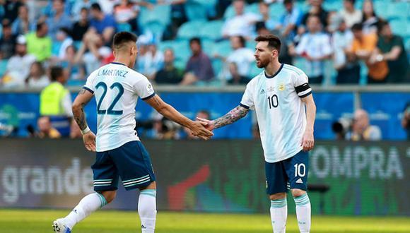 Lautaro Martínez y Lionel Messi han jugado juntos en la Selección de Argentina. (Foto: Getty Images)