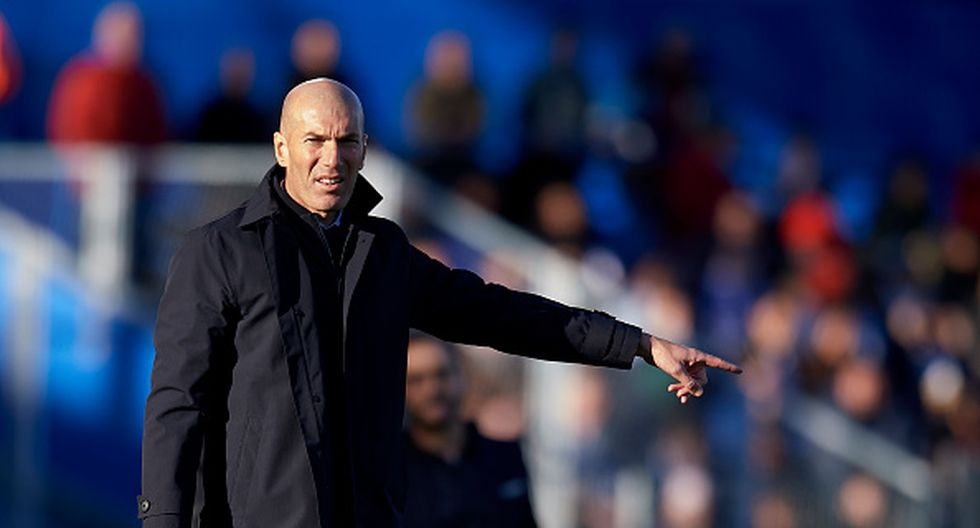 Zinedine Zidane en Real Madrid. (Getty)