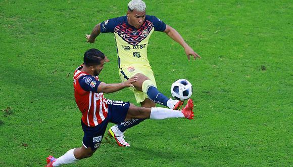 América vs. Chivas jugaron por la jornada 10 de la Liga MX 2021 este sábado (Foto: Getty Images).
