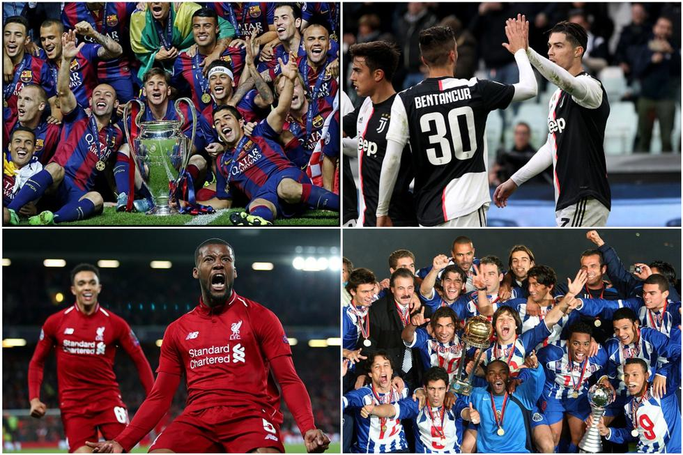 Los clubes con más partidos ganados en la Champions League. (Getty)
