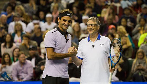 Roger Federer y Bill Gates también hicieron equipo en el Match for Africa 4 y en el 5. (Foto: Getty Images)