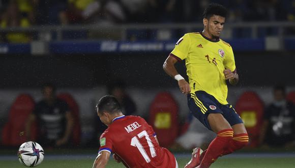Chile perdió 3-1 con Colombia, por la décima fecha de las Eliminatorias. (Foto: AFP).