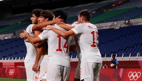 España venció 1-0 a Japón y luchará por la medalla de oro de Tokio 2020 ante Brasil. (Foto: EFE)
