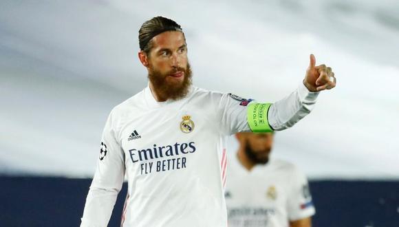 Sergio Ramos acaba contrato con el Real Madrid en junio de este año. (Foto: Reuters)