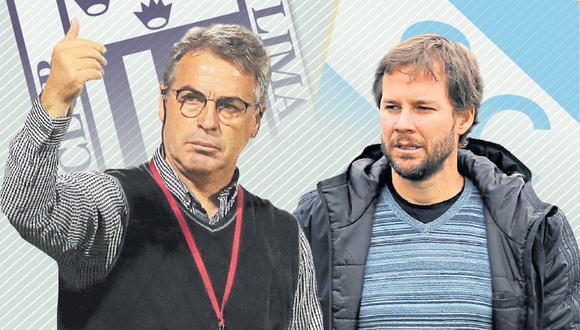 Manuel Barreto y  Pablo Bengoechea son, claramente, idearios opuestos y, en esta semifinal, uno de los dos morirá en su palo. (Diseño Depor)