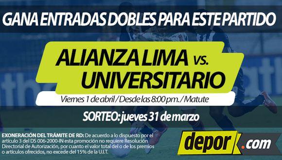 Este jueves será el sorteo de entradas para el clásico del fútbol peruano: Alianza Lima vs. Universitario.