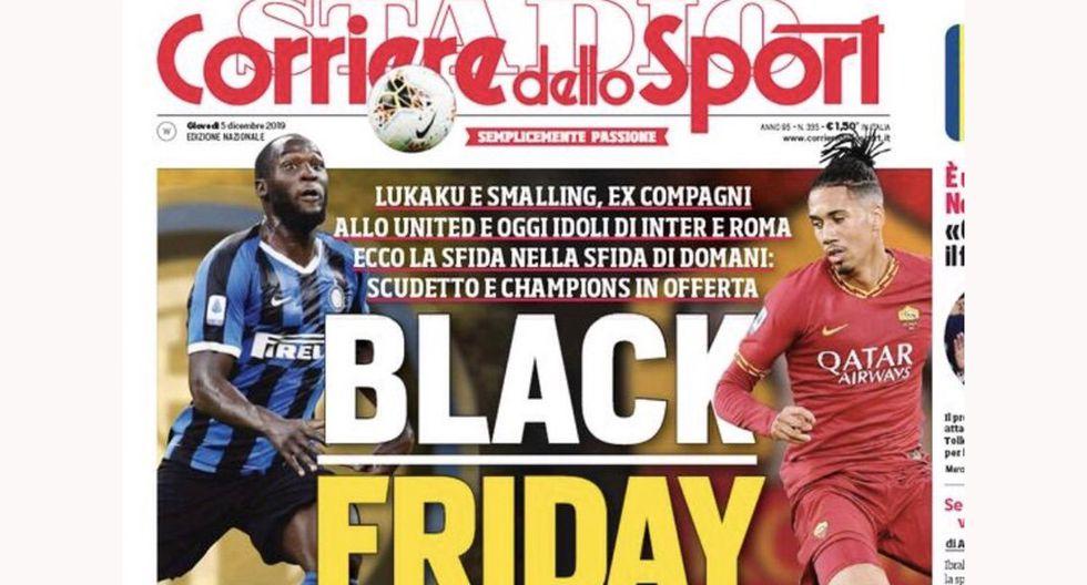 La polémica portada de Corriere dello Sport para este jueves 5 de diciembre. (Foto: Difusión)