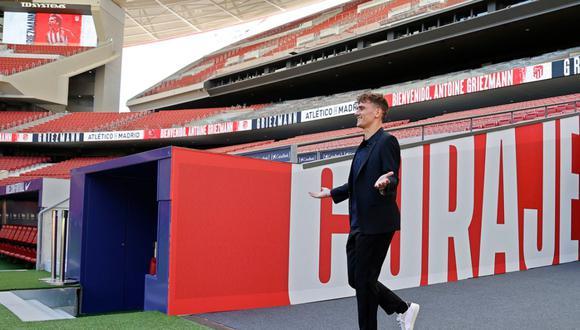 Antoine Griezmann volvió al Atlético de Madrid tras dos temporadas en el Barcelona. (@Atléti)