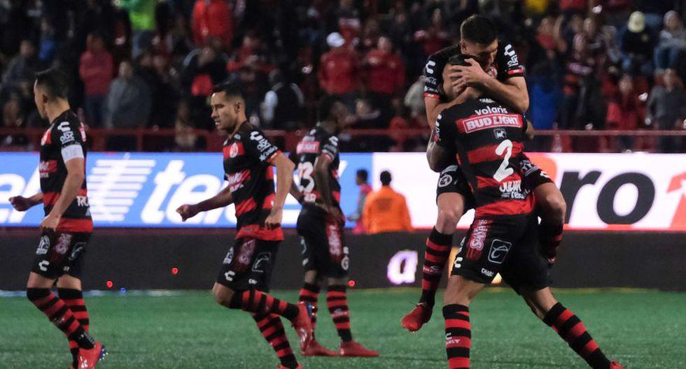 El Tijuana se volvió a meter en zona de liguilla en el fútbol mexicano, tras golear 4-1 al Morelia en partido de la decimosexta jornada del torneo Clausura-2019 jugado en el estadio Morelos. (Foto: AFP)