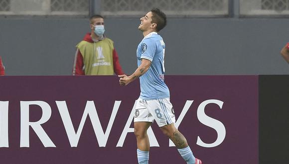 Alejandro Hohberg anotó un doblete en el Sporting Cristal vs. Arsenal. (Foto: AFP)