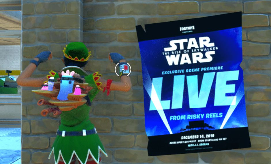 """""""Fortnite"""" emitirá una escena inédita de """"Star Wars: The Ryse of Sywalker"""" en el videojuego"""