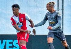 La lesión quedó en el pasado: Tapia sumó minutos con Celta de Vigo en amistoso