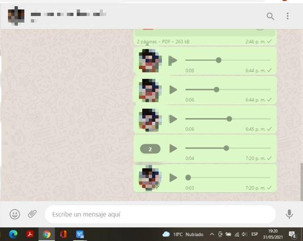 WhatsApp Web habilita la función de acelerar audios (Foto: Mag / WhatsApp web)