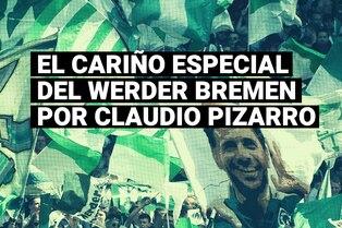 Ídolo total, Claudio Pizarro recibió el cariño y respeto de los hinchas del Werder Bremen