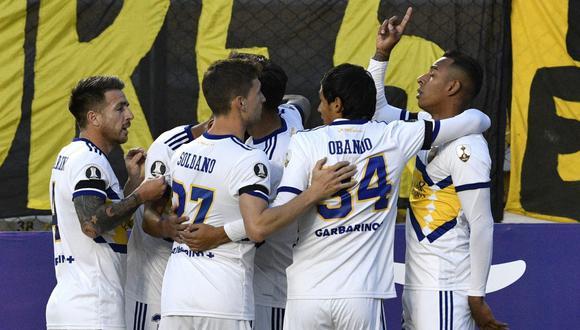 Boca ganó en Bolivia por la Copa Libertadores con gol del colombiano Villa. (Foto: EFE)