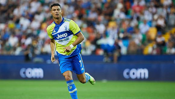 Cristiano Ronaldo pidió se suplente en el partido entre Juventus y Udinese por la Serie A de Italia (Foto: Getty Images)