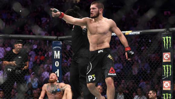 """Khabib Nurmagomedov: """"Veré las peleas del UFC 257 y si alguno hace algo espectacular, volveré a pelear"""". (UFC)"""