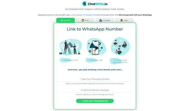 This way you can create a WhatsApp link to share it on Instagram.  (Photo: Capture)