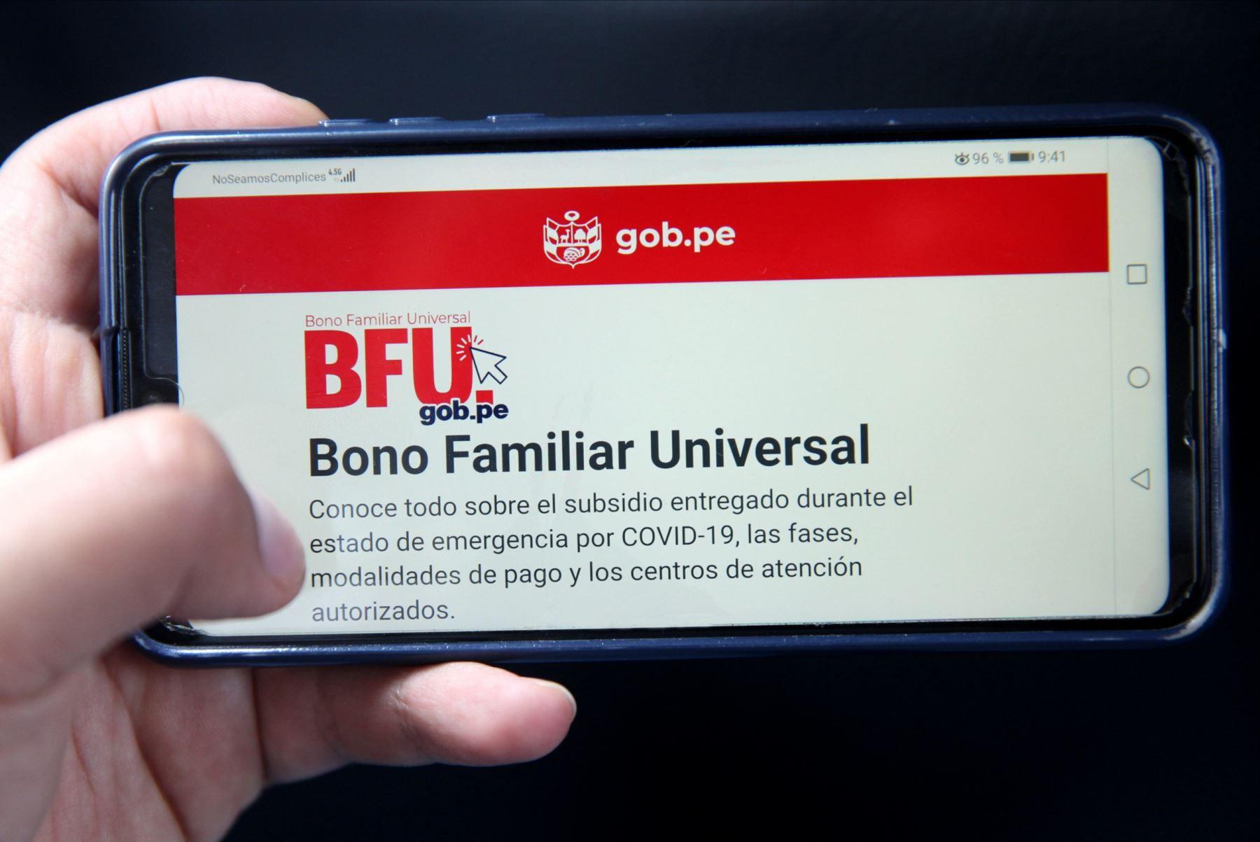 El Bono Familiar Universal (BFU) será entregado a más de 8.2 millones de familias a lo largo de todo el Perú (Foto: MIDIS)