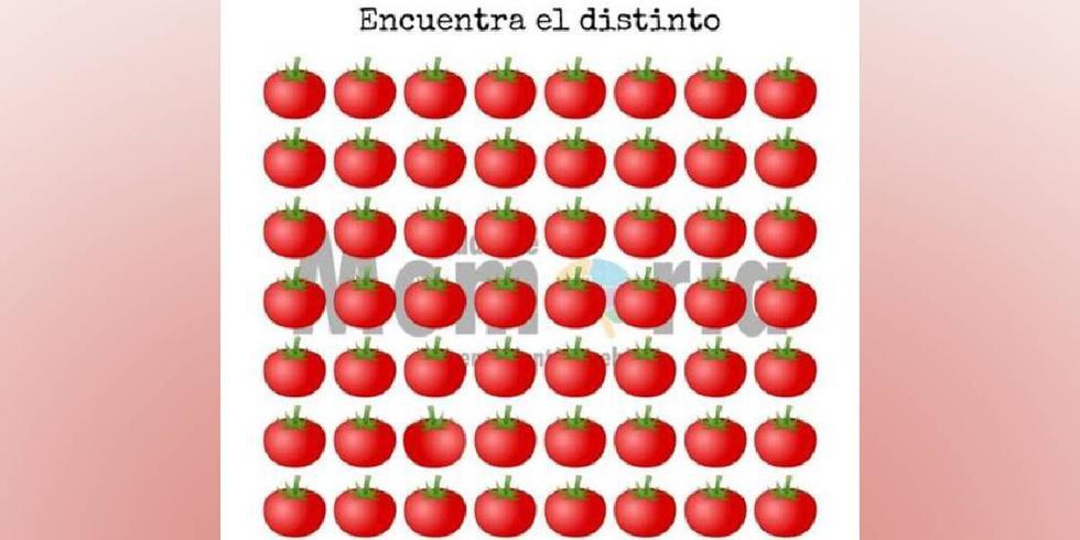 Ubica aquí mismo el tomate diferente al resto que solo 1 de cada cinco logra ver en 5 segundos. (Fotos: Facebook)