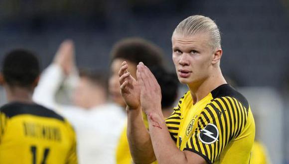 Erling Haaland se negó a renovar con el Borussia Dortmund. (Foto: Getty)