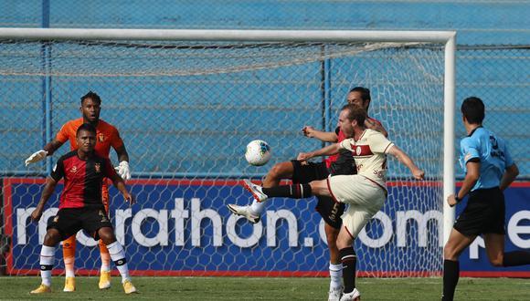 Universitario y Melgar empataron 1-1 en el estadio Alberto Gallardo (Foto:LIGA 1)